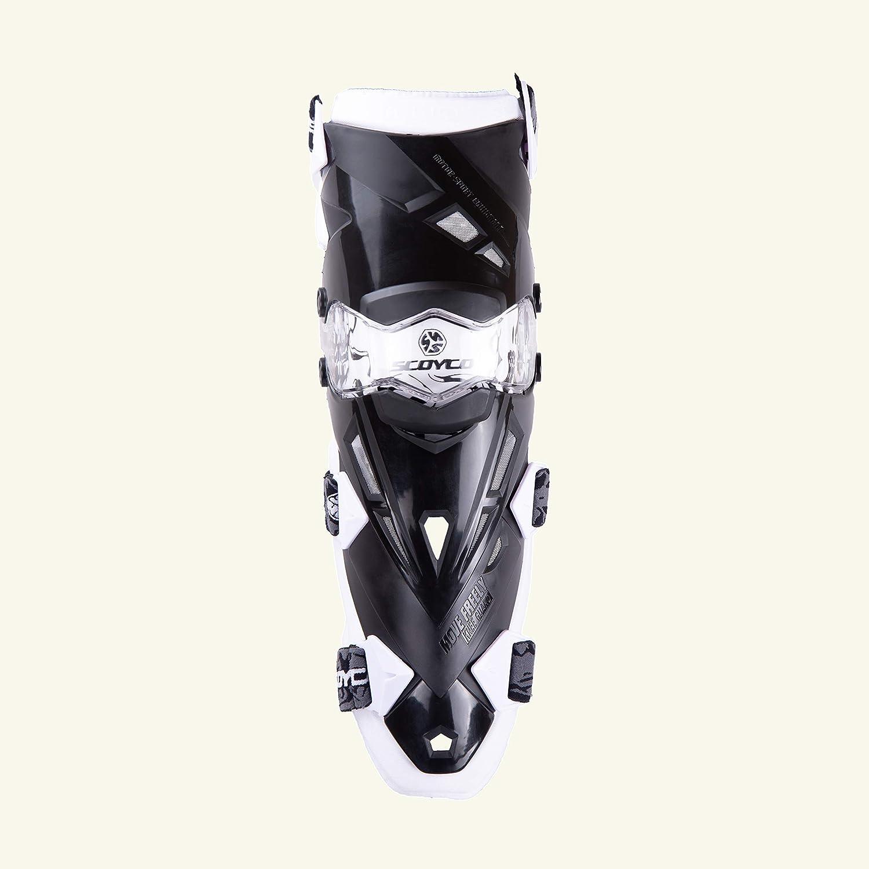 Schutz und Unterst/ützung f/ür die Seite des Gelenks mit Schnellschnalle Biegsame Knieschoner f/ür professionelle Motorradrennen Offroad-Outdoor-Sportarten GR/ÜN SCOYCO Motorrad-Knieschoner