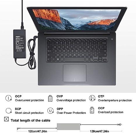 Sunydeal - Cargador para Ordenador Portátil Fujitsu Siemens, 20V 3.25A, 5.5*2.5mm, para Fujitsu Siemens Averatec, Fujitsu-Siemens Amilo, Fujitsu-Siemens ...