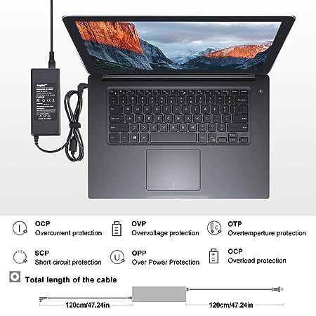 Sunydeal - Cargador para Ordenador Portátil Fujitsu Siemens, 20V 3.25A, 5.5*2.5mm, para Fujitsu Siemens Averatec, Fujitsu-Siemens Amilo, Fujitsu- Siemens ...