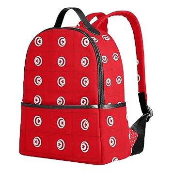 Mochila Escolar con la Bandera de Túnez para niñas, Galaxia, Lindos, Bolsas Escolares