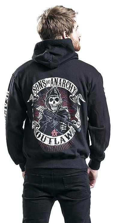 Hijos de la anarquía - Sudadera con capucha y cremallera Sons of Anarchy Reaper Crew - Negra: Amazon.es: Ropa y accesorios