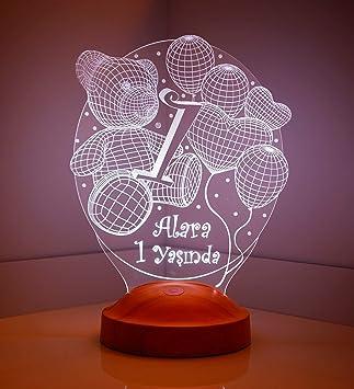 Sentidos Led Lampe Personalisiert Babygeschenk Für 1 Jährige Taufgeschenke Geschenke Zur Geburt Kommunion Taufe Geschenk Mit Namen Wunschtext
