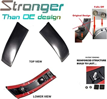 CF Advance Upgrade For 99-07 Ford F-250 F-350 F-450 F-550 Super Duty Left Driver Side LH and Right Passenge Side RH Roof Molding Set of 2PCS 1999 2000 2001 2002 2003 2004 2005 2006 2007