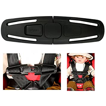 La Derkia Car Baby Safety Seat Strap Belt Harness Chest Child Clip Buckle Latch Nylon