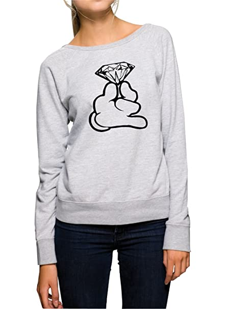 Certified Freak Dope Hands Diamond Sweater Girls Gris: Amazon.es: Ropa y accesorios
