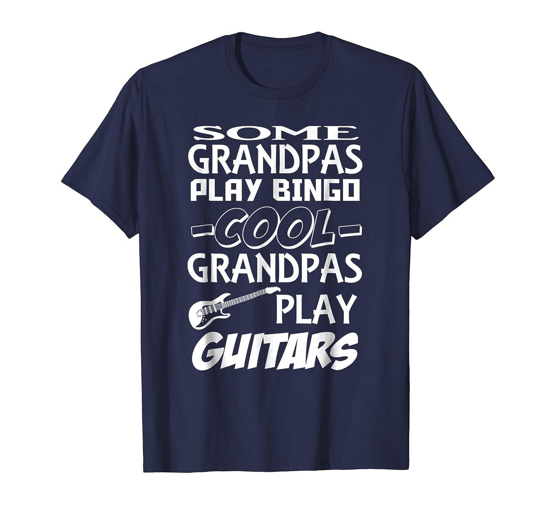 Cool Grandpas Play Guitars T-shirt For Men Gifts Idea