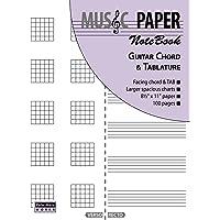 MUSIC PAPER NoteBook - Guitar Chord & Tablature