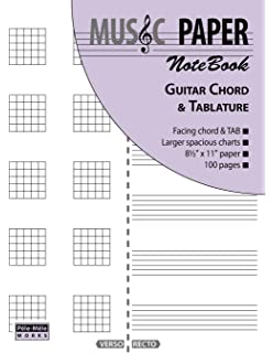 Additio Tab - Cuaderno de música para guitarra, color lila: BLOCK ...