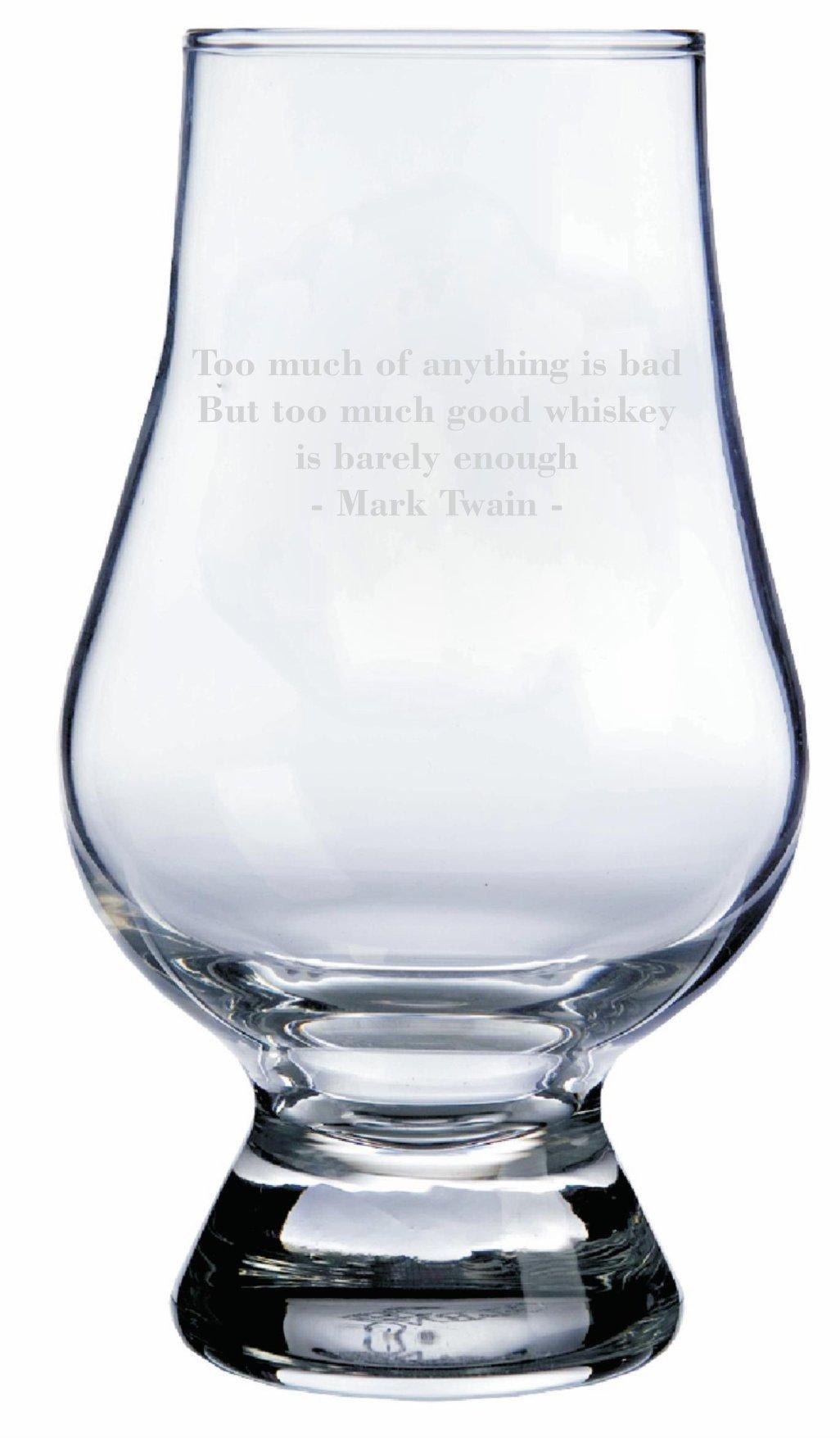 Glencairn Mark Twain Quote Whisky Glass by Glencairn