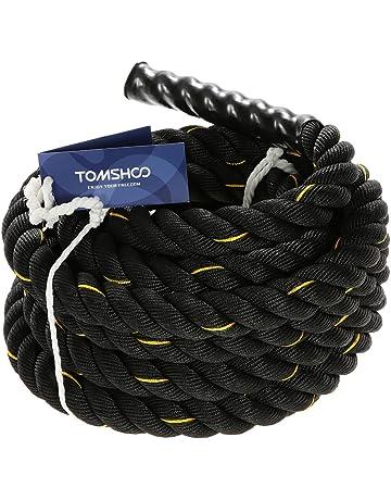 TOMSHOO Cuerda de Batalla Battle Rope Cuerda Fitness Formación Ejercicio de Diámetro de 38mm Longitud de