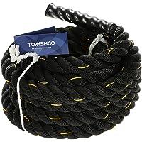 TOMSHOO Battle Rope Vliegtouw, 10 m/12 m/15 m, trainingstouw, sporttouw, slagtouw voor spring- klimoefeningen of…