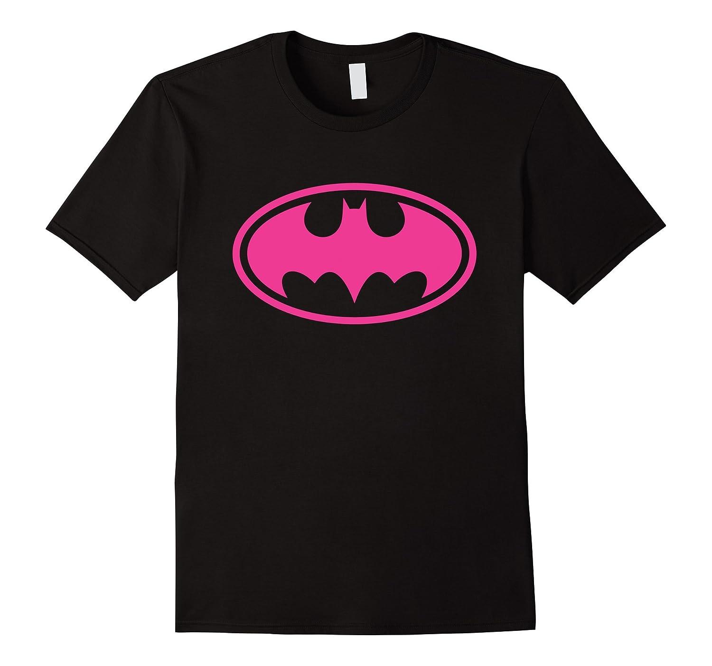Pink Girl Bat Man Halloween T-Shirt-RT