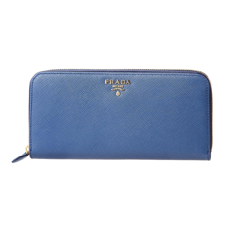 プラダ(PRADA) 長財布(ラウンドファスナー) 1ML506 QWA F0013 サフィアーノ メタル ブルー 青 [並行輸入品] B0799G143G