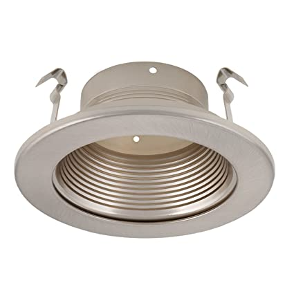 4 inch recessed can light trim with satin nickel metal step baffle 4 inch recessed can light trim with satin nickel metal step baffle for 4 inch aloadofball Gallery