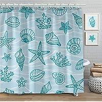 Faitove Shower Curtain 72 X 72 Inch Bathroom Decor Waterproof Curtain with Hooks...