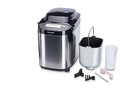 Panasonic SD-2512 - Panificadora de 550 W para Panes Sin Gluten, Masas, Compotas y Mermeladas (33 Programas Automáticos, Dispensador, Temporizador ...