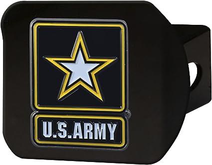 SLS Army 3D Color Emblem Matte Black Hitch Cover