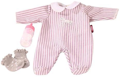 Götz 3402991 Kombination Baby-Einhorn - Puppenbekleidung-Set Gr. S - 4-teiliges Bekleidungs- und Zubehörset für Babypuppen vo