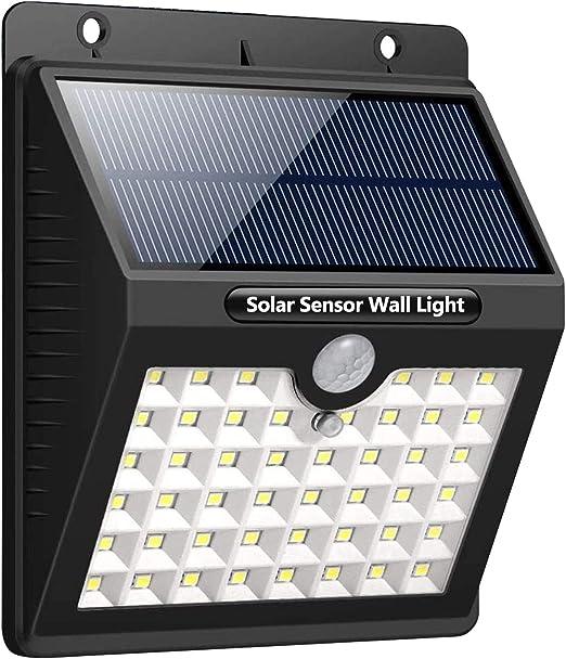 Luz Solar Exterior Luces LED Solares con PIR Sensor de Movimiento - Daffodil LEC800B - 46LED Foco Solar Exterior 120º Iluminación Impermeable Lámpara Solar 3 Inteligente Modos Para Jardín/Patio: Amazon.es: Iluminación