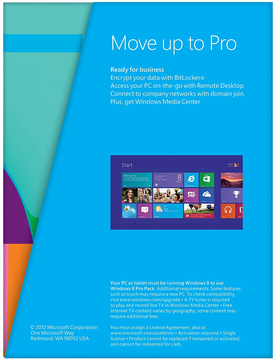 Windows 8 Standard Edition to Windows 8 Pro Pack, Upgrade Edition [Product  key card only] (PC)