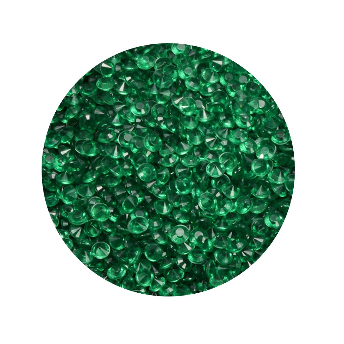 Wedding Decoration Diamond Confetti Table Scatters Acrylic Crystals 1000PCS Dark green