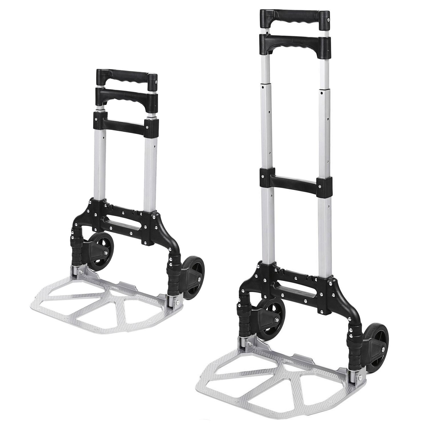 (US Stock) Keland Foldable Lightweight Hand Truck, Portable Aluminum Small Hand Trucks,150lbs Capacity Mini Hand Truck with Arm Handle for Industrial/Travel/Shopping by Keland (Image #5)