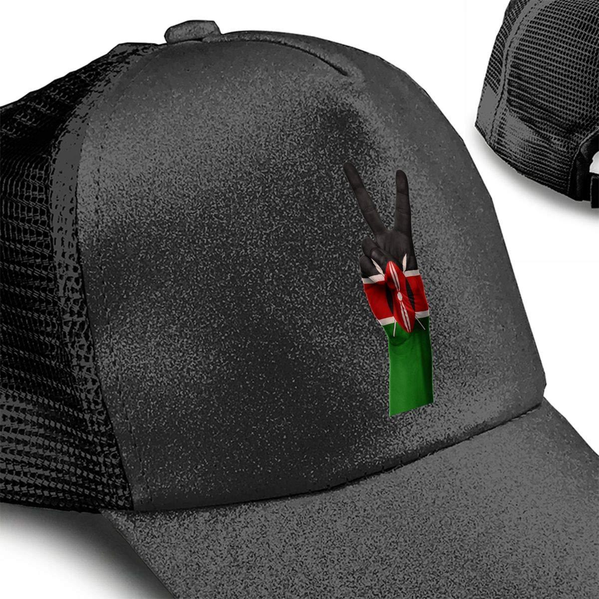 Kenya Ponytail Messy High Bun Hat Ponycaps Baseball Cap Adjustable Trucker Cap Mesh Cap