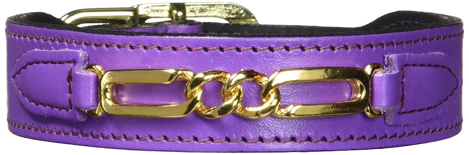 Lavender m Lavender m Hartman & pink 3249 Central Park Dog Collar, 12 to 14-Inch, Grape