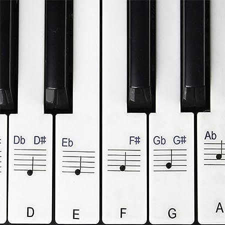 Pegatinas para piano / teclados, 49,61,76,88 Juego completo ...