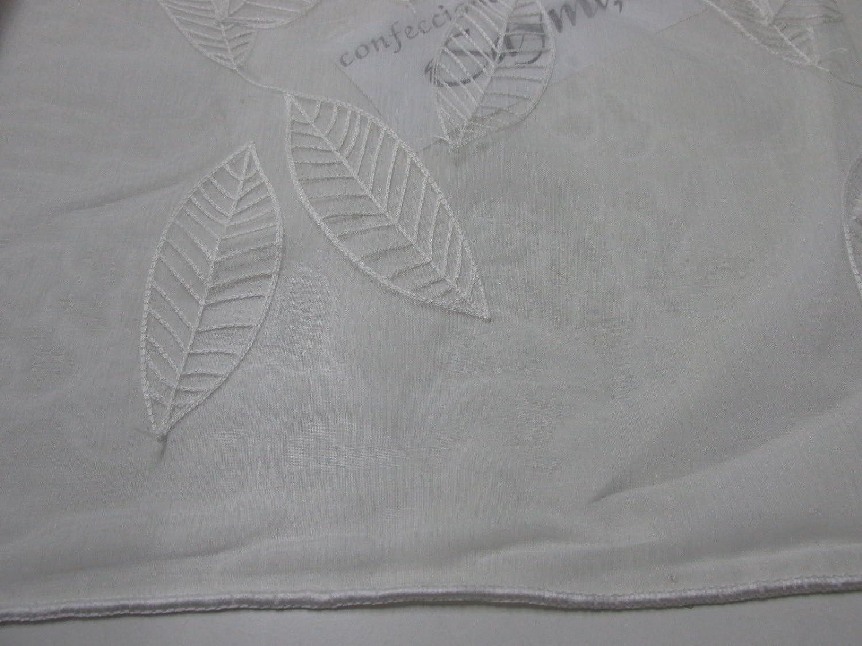 Confecci/ón Saymi Metraje 0,50 MTS Tela Visillo Bordado Cortinas Ref Miriam Blanco con Ancho 2,80 MTS.