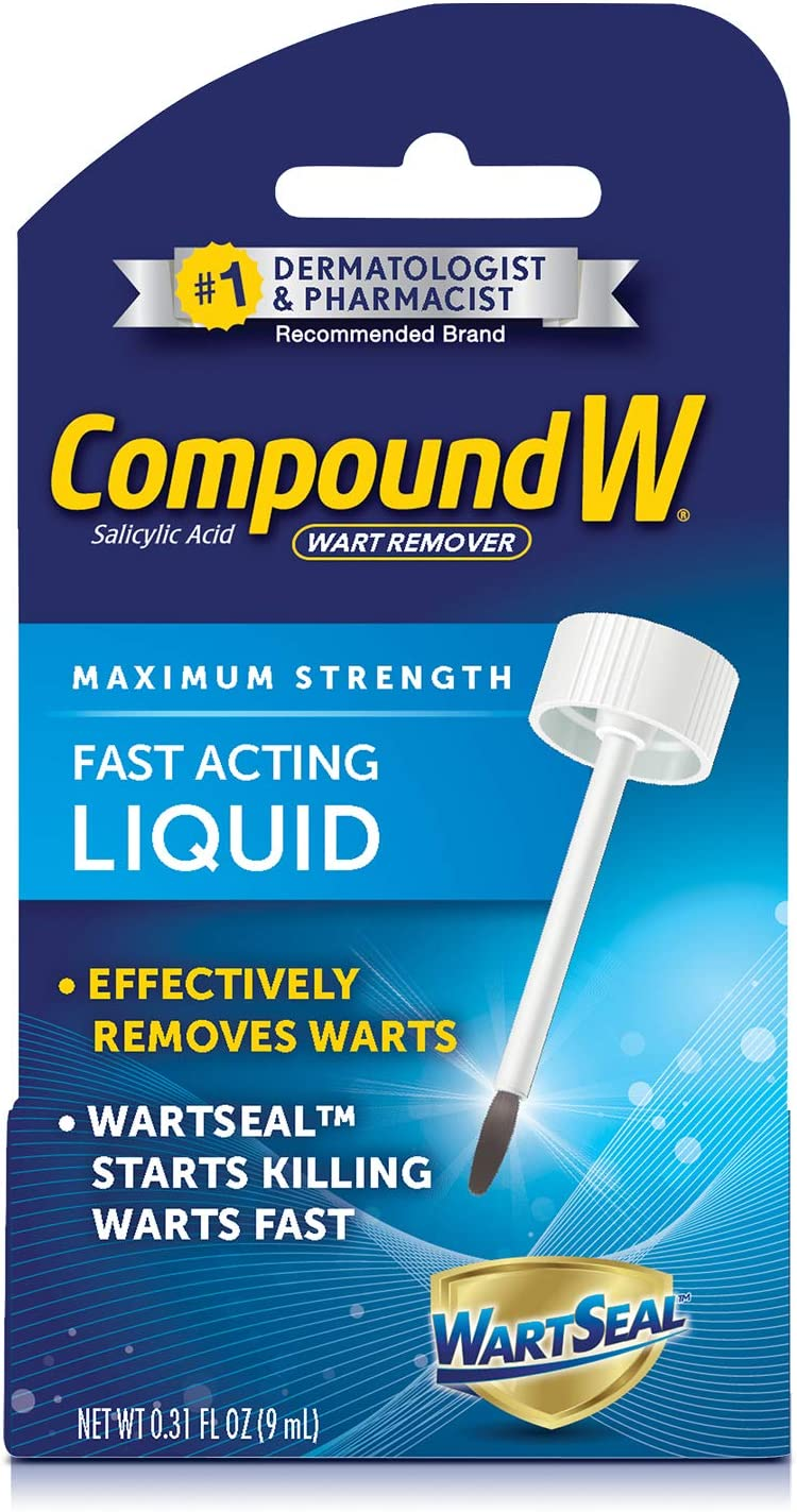 Amazon Com Compound W Fast Acting Liquid Salicylic Acid Wart Remover 0 31 Fl Oz Health Personal Care