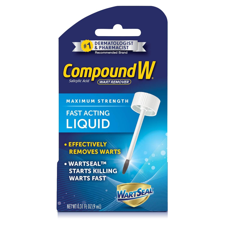Compound W Maximum Strength Fast Acting Liquid Wart Remover, 0.31 fl oz