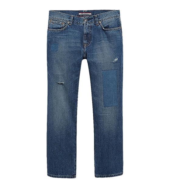 60de8e59 Tommy Hilfiger Classic Fit Jeans 38W x 30L Tinted Light Blue Wash Distressed