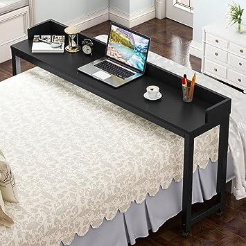Mesa para cama con ruedas, tribesigns funda para escritorio con patas de metal y gran