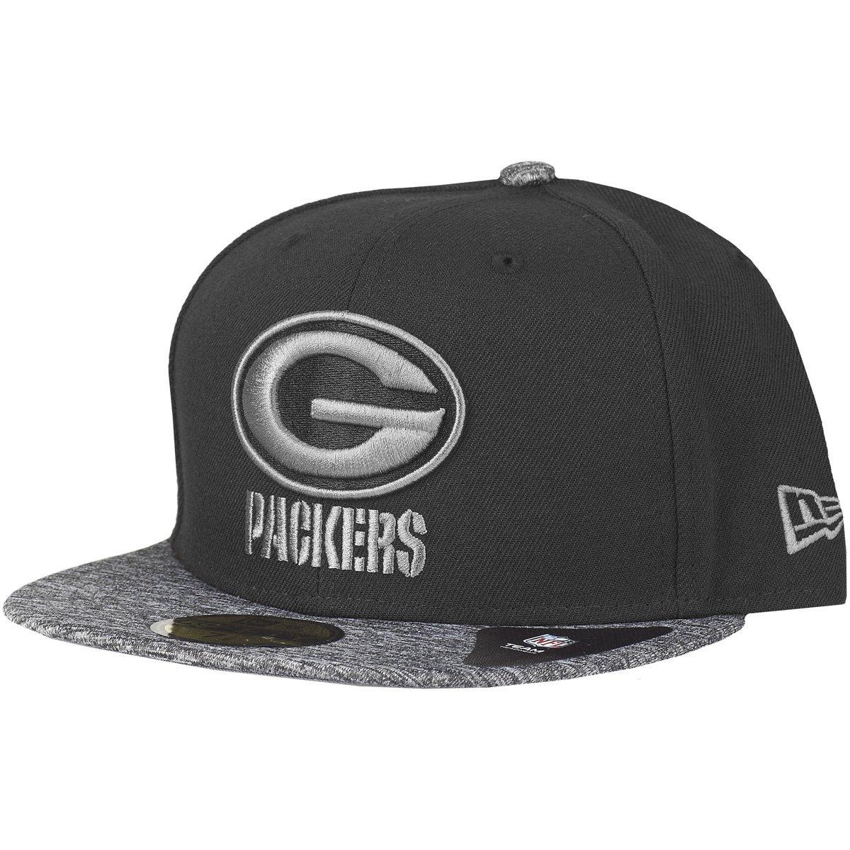 Graphite Green Bay Packers New Era 59Fifty Cap