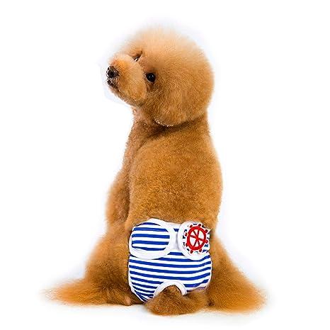 AUOKER Puppy PiapersPet Perro Gato pañales fisiológicos Pantalones Gato Cachorro fisiológico Ropa Interior Pantalones pañales diseño