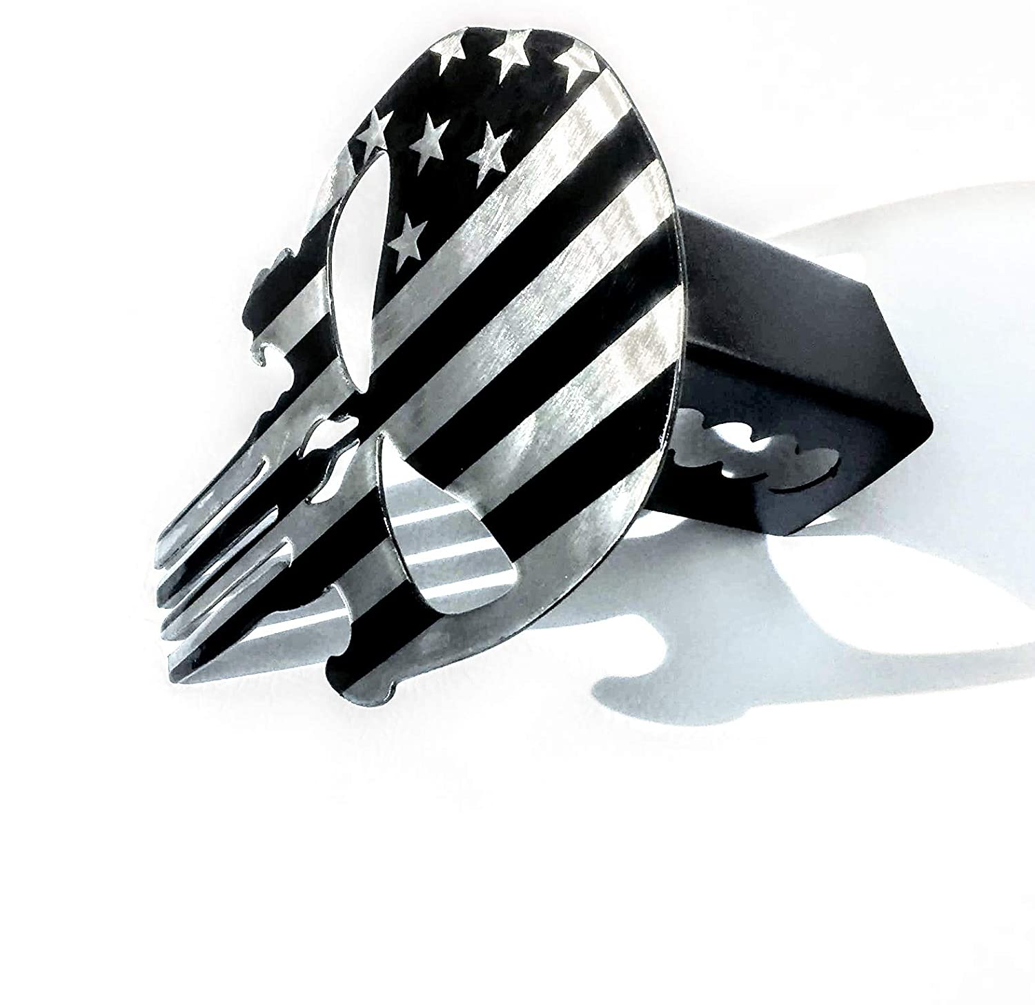 Trailer Hitch Cover Subdued American Flag Fox MetalFab Punisher