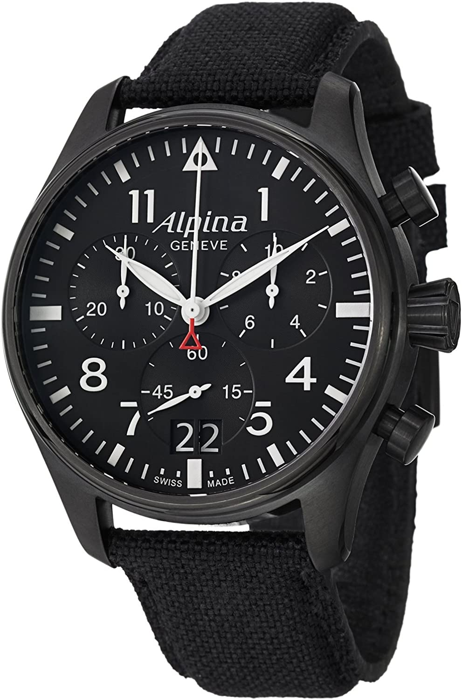 Alpina Startimer Pilot Men's Big Date Chronograph Watch AL-372B4FBS6