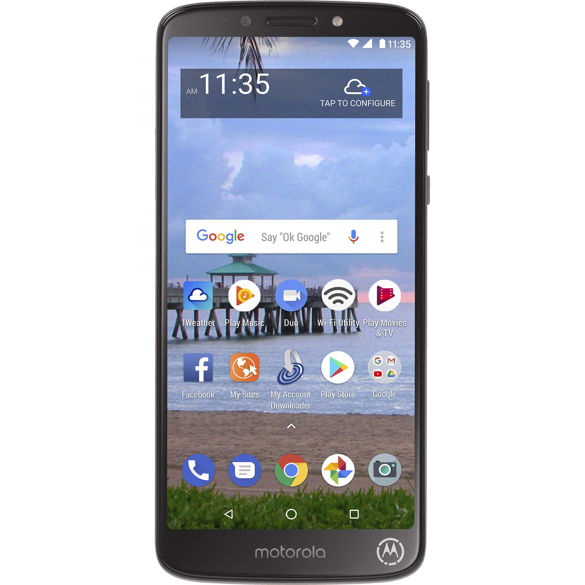 Tracfone Motorola Moto e5 4G LTE Prepaid Smartphone (Locked) – Black – 16GB – Sim Card Included – CDMA
