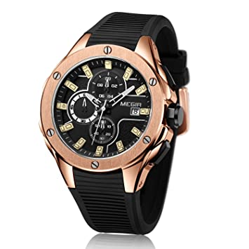 L.HPT Hombres Relojes Ofertas Marca, MEGIR Relojes De Moda Exquisita Dial Fecha Calendario