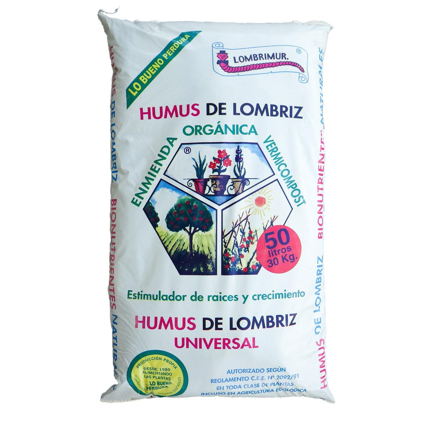 Humus de lombriz 50 L: Amazon.es: Jardín