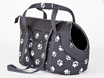 Hobbydog Bolsa de Transporte para Perros y Gatos, tamaño 2, Color Gris con Patas impresión: Amazon.es: Productos para mascotas