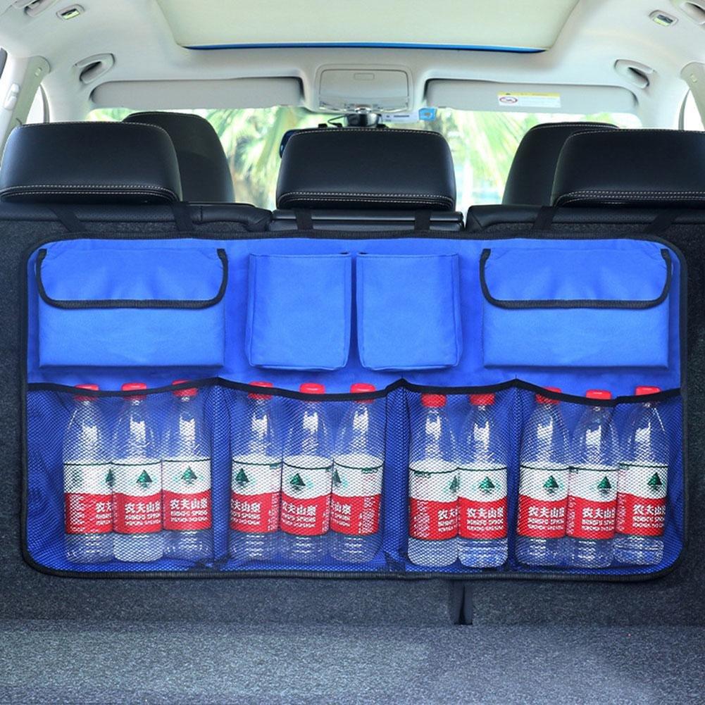 ZHUOTOP Universal Auto Car Organizer Trunk Back Seat Storage Bag Mesh Net Pocket Bag Black