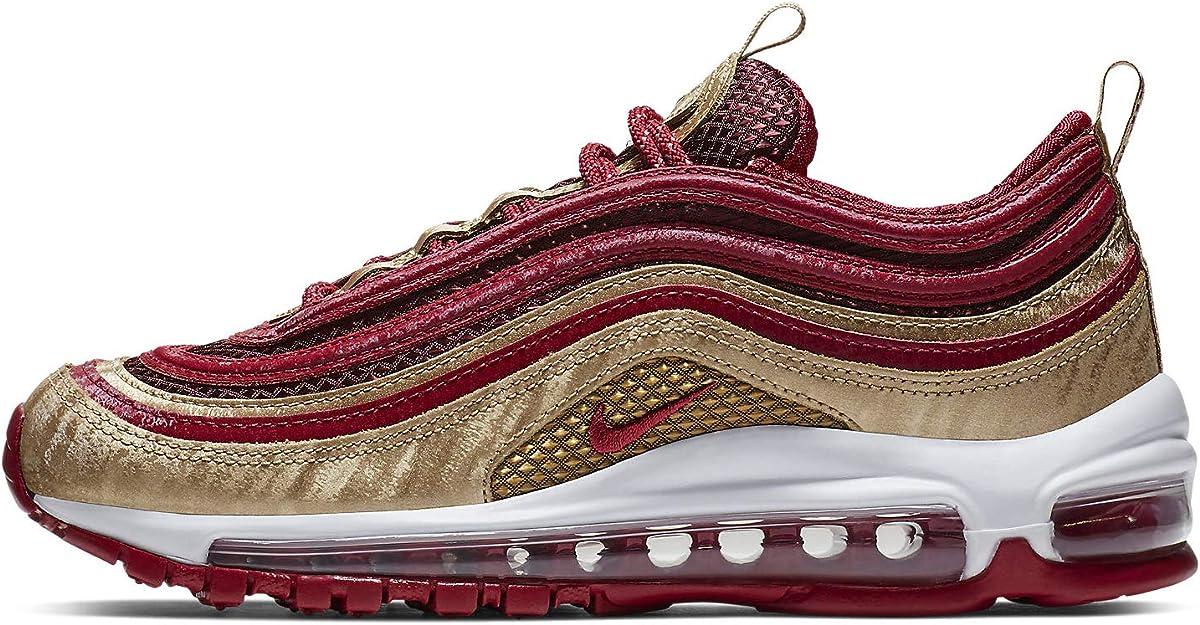 Nike Air Max 97 QS GS NOBLE RED GOLD WHITE BQ4429 600 Big Kid's Youth Women's | eBay