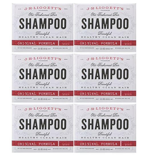 J.R. LIGGETT'S SHAMP BAR,ORIGINAL, 3.5 OZ 6PK