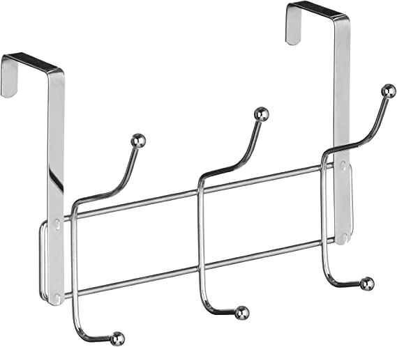 Premier Housewares - Perchero para puerta (6 ganchos), color cromo: Amazon.es: Hogar