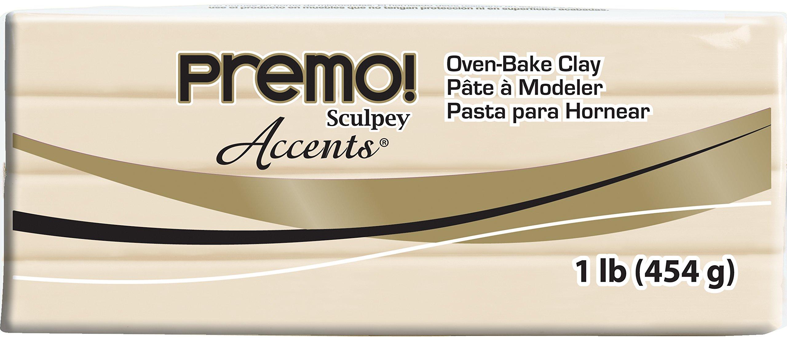 Sculpey Premo Polymer Art Clay Accents, 1-Pound, Translucent (PE1 5310)