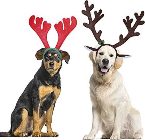 2 Sizes Reindeer Dog Costume