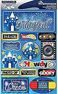 Reminisce Signature Dimensional Stickers Sheet, 4.5 by 6-Inch, Magical