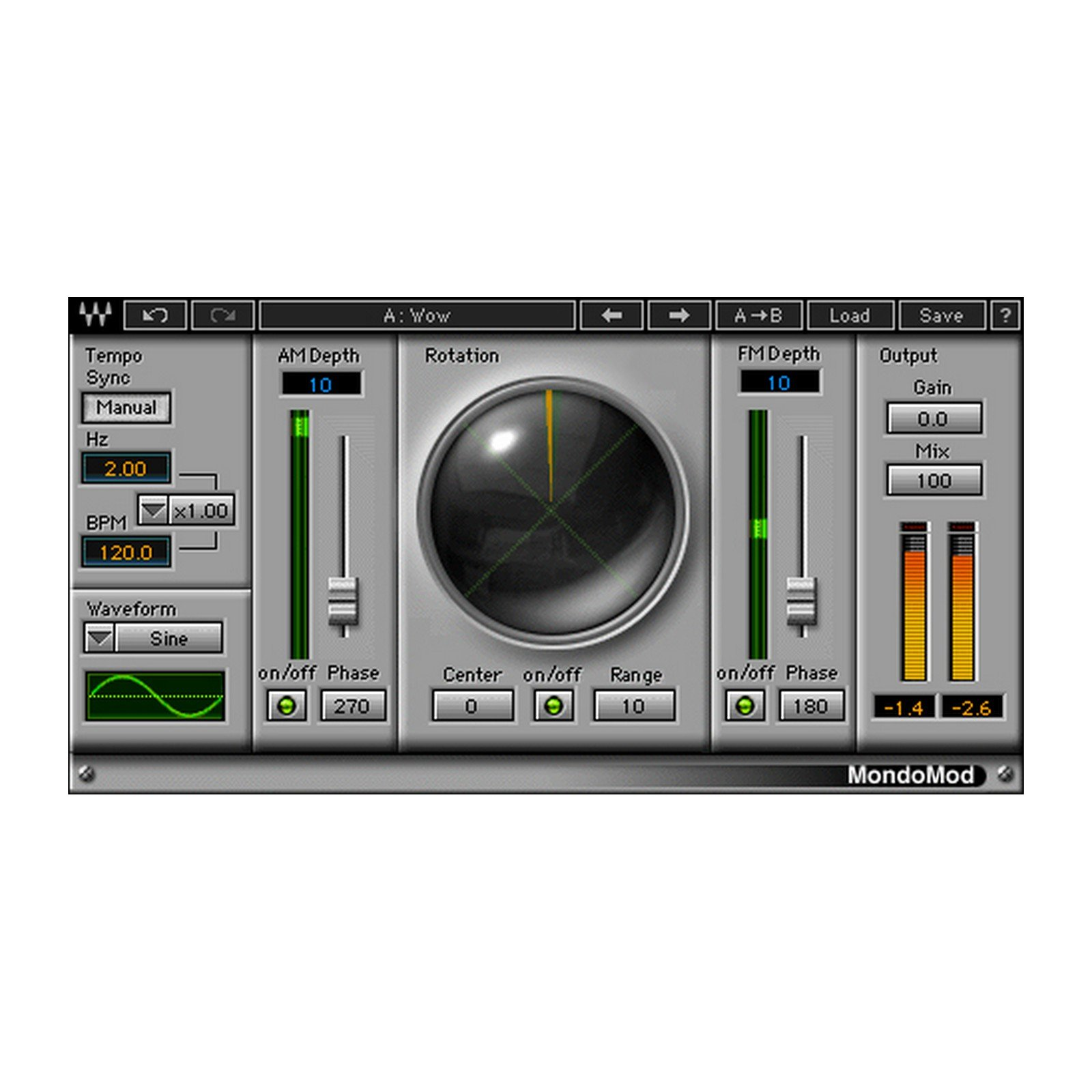 Waves MondoMod | Chorus Effects Plugin Software Download Only